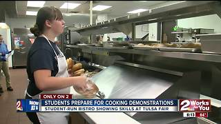 Nathan Hale students preparing for Tulsa State Fair cooking demonstration - Video