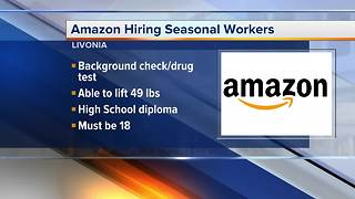 Amazon hiring 300 seasonal fulfillment positions in metro Detroit - Video
