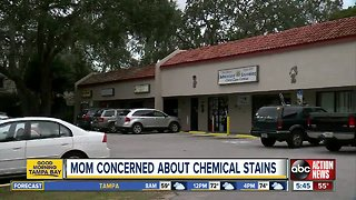 Mom says toddler came home with chemical stains on clothes