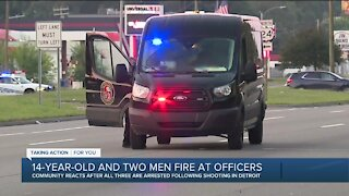 Shots fired at 4 police officers during traffic stop on Detroit's west side