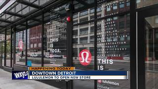 New Lululemon store to open in downtown Detroit on Friday - Video