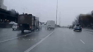 Reckless driver nearly causes serious accident