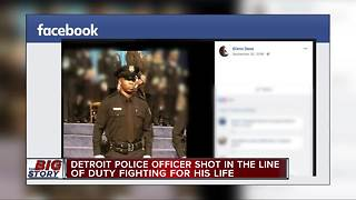 Father of injured Detroit officer: 'He has been shot in the head, please pray for my son' - Video