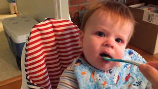 This Toddler Does NOT Like Applesauce