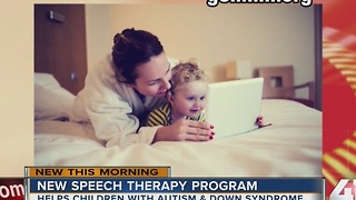 New speech therapy program helps children with autism and Down syndrome - Video