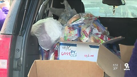 Angels in the Snow blankets community with essentials