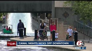 Indiana State Museum Canal Nights kicks off in downtown Indianapolis Wednesday - Video
