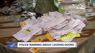 Police warn people to lock doors - Video