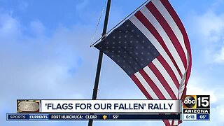 Flags for Our Fallen rally