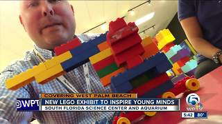 Legos take over the South Florida Science Center and Aquarium - Video