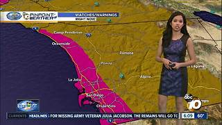 10News Pinpoint Weather for Sun. Dec. 3, 2017