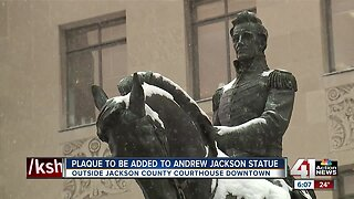 Plaque to be added to Andrew Jackson statue