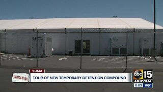 What's inside: Temporary detention center for migrants opens in Yuma