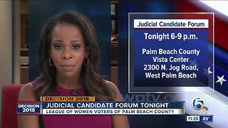 2 judicial candidate forums to be held in Palm Beach County - Video