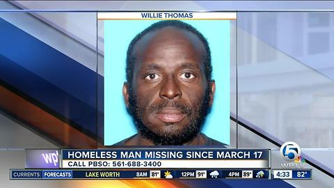 Homeless Palm Beach County man missing since March 17
