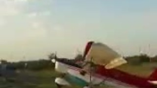 Small Aircraft Crashed Into A Parked Van In The Most Bizarre Way Possible - Video