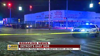 Woman found shot to death inside SUV in Detroit