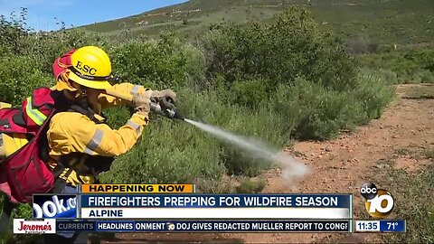 Firefighters participate in three-day wildfire preparedness exercise