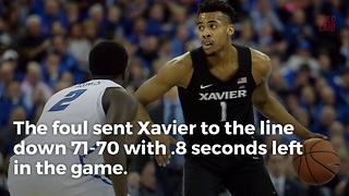 Fans Can't Agree Whether Xavier Deserved Game-Winning Free Throws - Video
