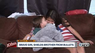 Girl Uses Her Body As Shield To Save Baby Brother From Getting Shot - Video