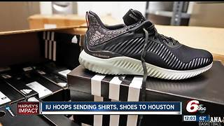IU basketball sending shoes, clothes to Houston - Video