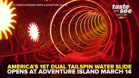 America's first dual tailspin water slide opens at Adventure Island March 14 | Taste and See Tampa Bay