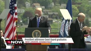Trump delivers commencement address at Coast Guard Academy