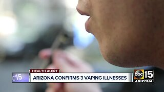 Arizona confirms 3 vaping illnesses