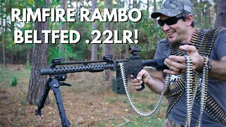 Full Auto Beltfed .22LR Machine Gun!