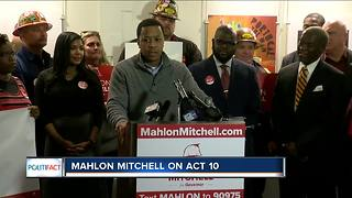 PolitiFact Wisconsin: Mahlon Mitchell on Act 10 - Video