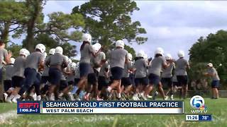 KeiserHolds First Football Practice - Video