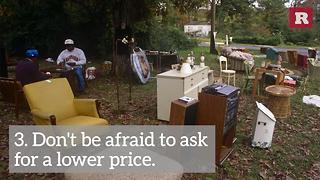 How To Save Money At Yard Sales | Rare Life - Video