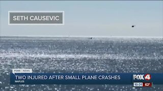 Two injured after small plane crashes