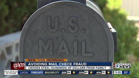 Hundreds of dollars gone after mailbox theft