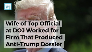 Wife of Top Official at DOJ Worked for Firm That Produced Anti-Trump Dossier - Video