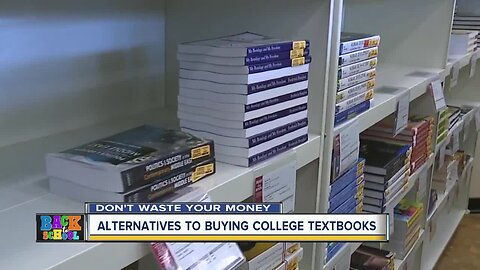 Here are some alternatives to buying college textbooks
