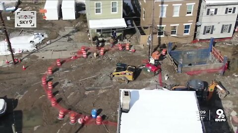 East End water main breaks a second time, reopens sinkhole