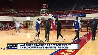 Golden State Warriors practice at Detroit Mercy - Video