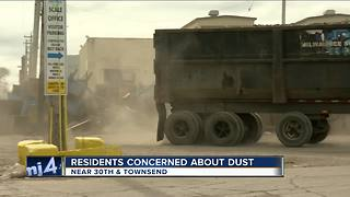 Residents concerned with neighborhood's dust - Video