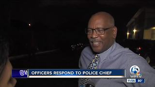 Riviera Beach officers react to Chief Williams' news conference - Video