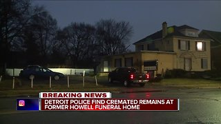 Cremated remains found at another shuttered Detroit funeral home