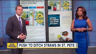 'No Straws St. Pete' campaign hopes to encourage elimination of plastic straw usage