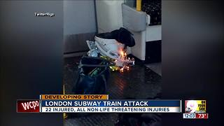 London Underground train attack - Video