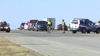 Muskogee Turnpike closes due to multiple vehicle accident - Video