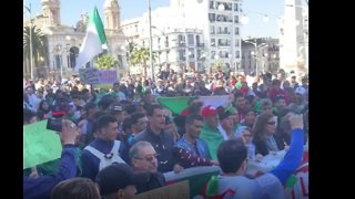 Algerians Rally Against President's Extension of Fourth Term - Video