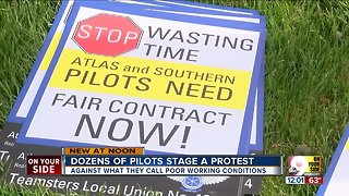 Pilots stage a protest