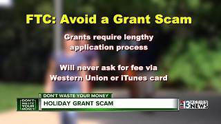 Holiday grant scam