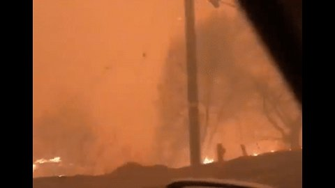 'Everything is on Fire Around Me' - Woman Fleeing Woolsey Blaze Fears For Her Life