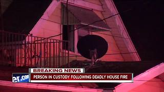 Buffalo police have one in custody after deadly east side fire - Video