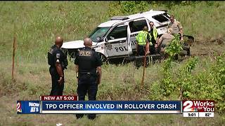 TPD officer involved in rollover crash - Video